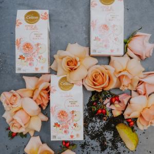 Ceilonas melnā tēja ar rožu ziedlapiņām