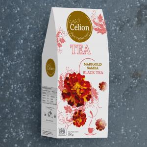 Ceilonas melnā tēja ar kliņģerītēm
