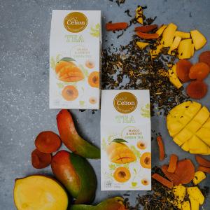 Ceilonas zaļā tēja ar mango un aprikozēm