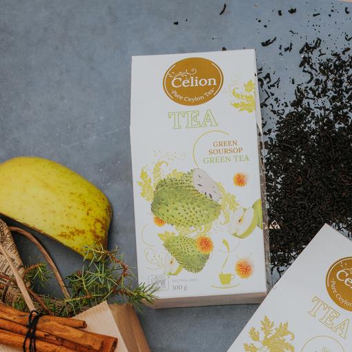 Ceilonas zaļā tēja ar soursopu