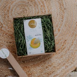 Ceilonas vidējo lapu melnās tējas dāvanu komplekts ar meloņu tēju