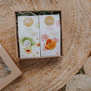 Ceilonas zaļās tējas dāvanu komplekts ar ar soursop tēju un apelsīnu tēju